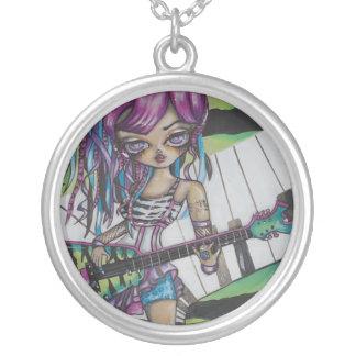 Tori Rock Star Tattoo Fantasy Art Necklace