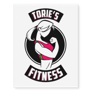 Torie's Fitness temporary tattoo