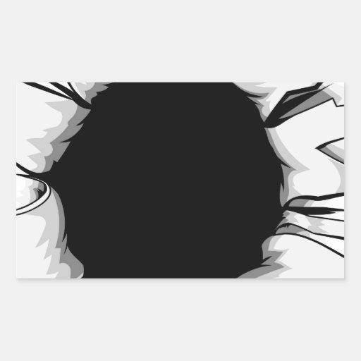 Torn hole sticker