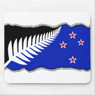 torn paper new zealand flag mouse pad