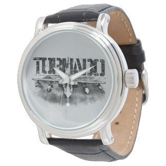 Tornado IDS Black Vintage Leather Watch