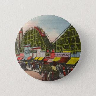Tornado Roller Coaster - Coney Island NY /The Bobs 6 Cm Round Badge