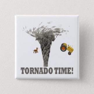 TORNADO TIME 15 CM SQUARE BADGE