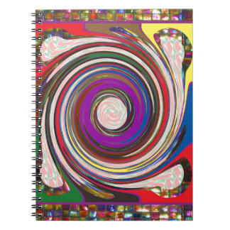 Tornado Whirlwind HighTide Waves colorful art Spiral Notebooks