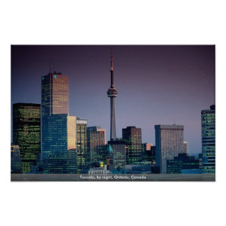 Toronto, by night, Ontario, Canada Poster
