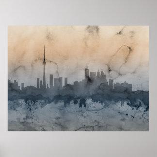 Toronto Canada Skyline Poster