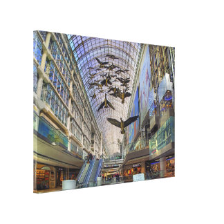Toronto Eaton Centre Birds - Glass Architecture Gallery Wrap Canvas