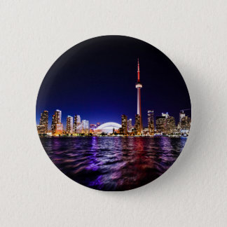 Toronto Skyline at Night 6 Cm Round Badge