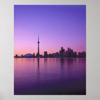 Toronto Skyline at night, Ontario, Canada Poster