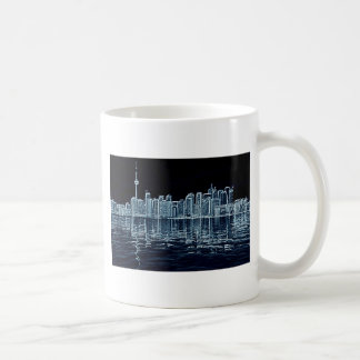 Toronto Skyline in Blue Coffee Mug