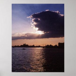 Toronto-sunrise canvas poster