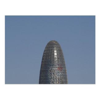 Torre Agbar, Barcelona Postcard