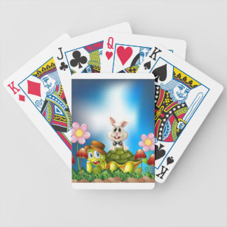 Tortoise and hare bicycle playing cards