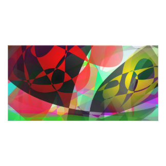 Total Abstract Art Custom Photo Card