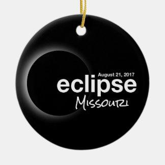 Total Solar Eclipse 2017 - Missouri Christmas Ornament