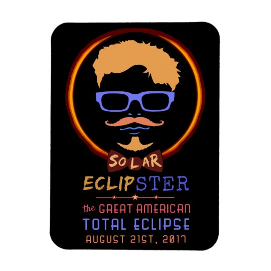 Total Solar Eclipse August 21 2017 Funny Hipster Rectangular Photo Magnet