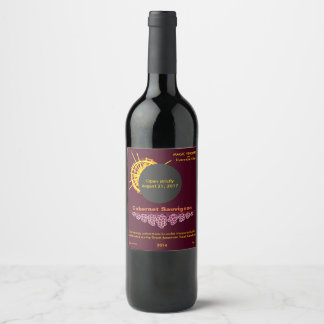 Total Solar Eclipse Sunlight Concentrate funny Wine Label