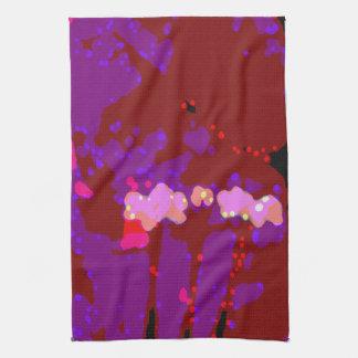 Totally Abstract Bougainvillea Tea Towel