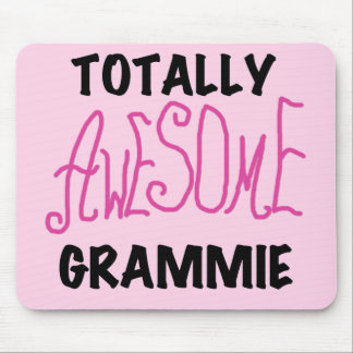 Totally Awesome Grammie Pink T-shirts Gifts Mouse Pad