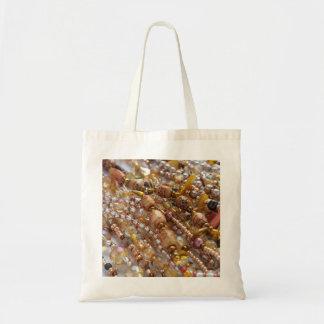 Tote, bag- Natural Earthtones, Amber & Bronze Bead