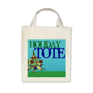 Tote Bag Organic Holiday Giftbag Treats Christmas