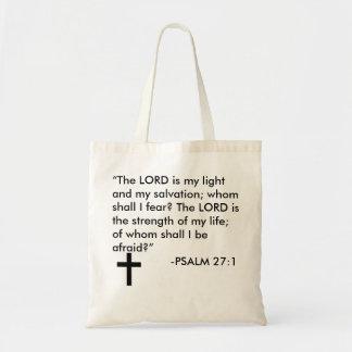 Tote Bag Psalm 27:1