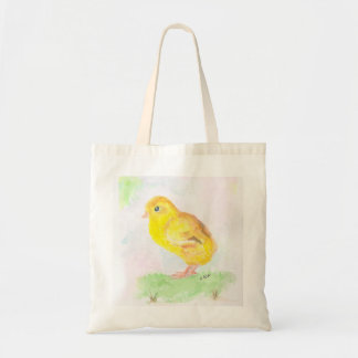 Tote Bag with Baby Yellow Chick