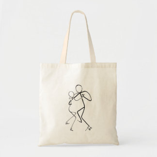 Tote bag with two Polka dancers