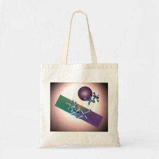 Tote Old Fashioned Jacks and Ball Retro Toy Purple Tote Bag