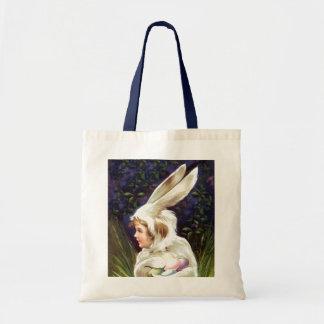 Tote Treat Vintage Easter Bunny Egg Hunt Gift Bag Budget Tote Bag