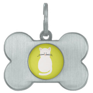 Totty The Cat. Colourful bright cat art Pet ID Tags