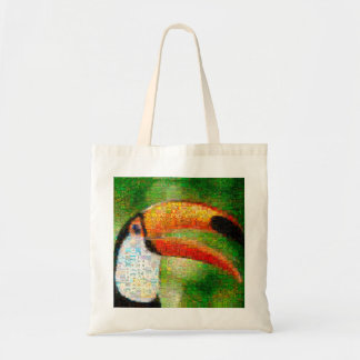 Toucan collage-toucan  art - collage art tote bag