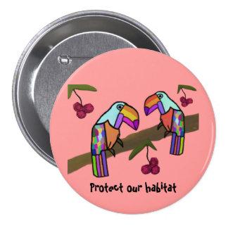 Toucan Habitat Button
