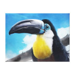Toucan in Misty Air digital tropical bird painting Stretched Canvas Prints