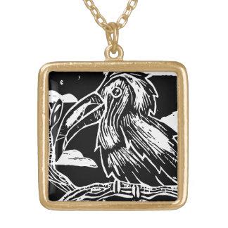 Toucan Print Square Pendant Necklace
