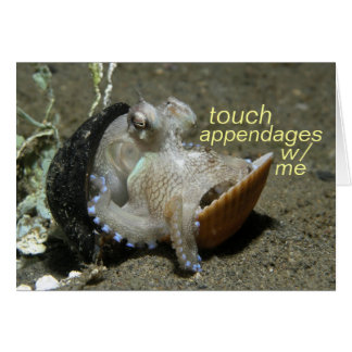 touch appendages greeting card