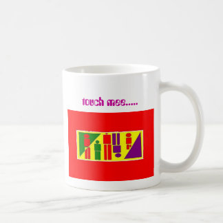 touch mee..... basic white mug