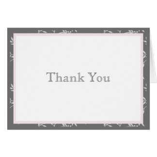 Touch of Class Pink Thank You Note Note Card