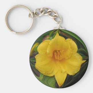 Touch of sunshine basic round button key ring