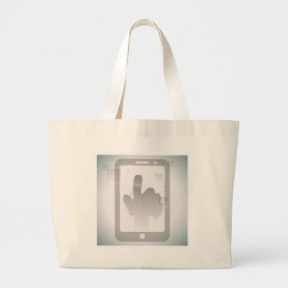 Touch Screen Technology Jumbo Tote Bag