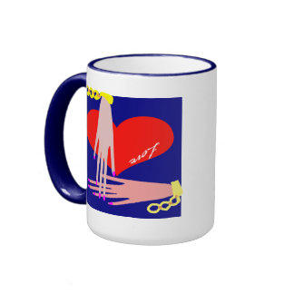 touch the heart ringer mug
