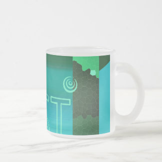 touching art - graphic kind cup frosted glass mug
