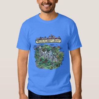 Tour du Mont Blanc cartoon map - basic dk t-shirt