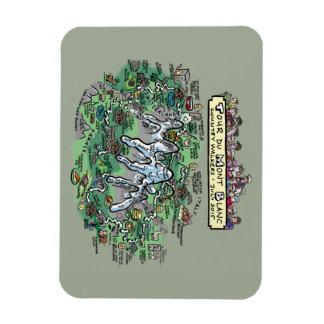 Tour du Mont Blanc cartoon map - magnet