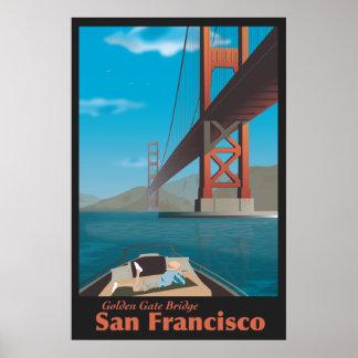 tourism poster San Francisco Golden Gate Bridge