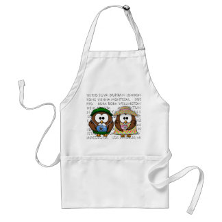 tourist owls girl 'n boy apron