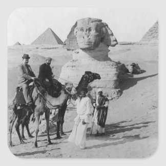 Tourists Traveling by Sphinx Square Sticker
