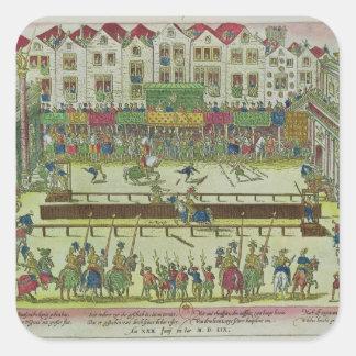 Tournament during which Henri II Square Sticker