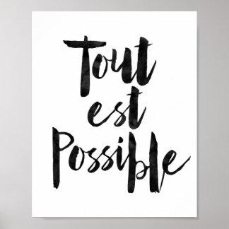 Tout Est Possible Poster