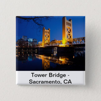 Tower Bridge - Sacramento, CA 15 Cm Square Badge